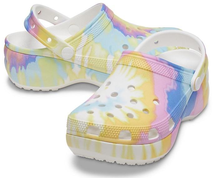 Crocs Women's Classic Platform Tie-Dye Graphic Clog