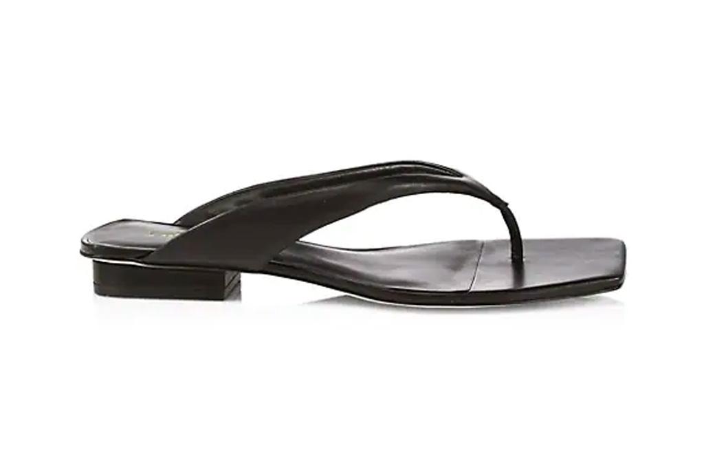 black sandals, flats, square toe, cult gaia