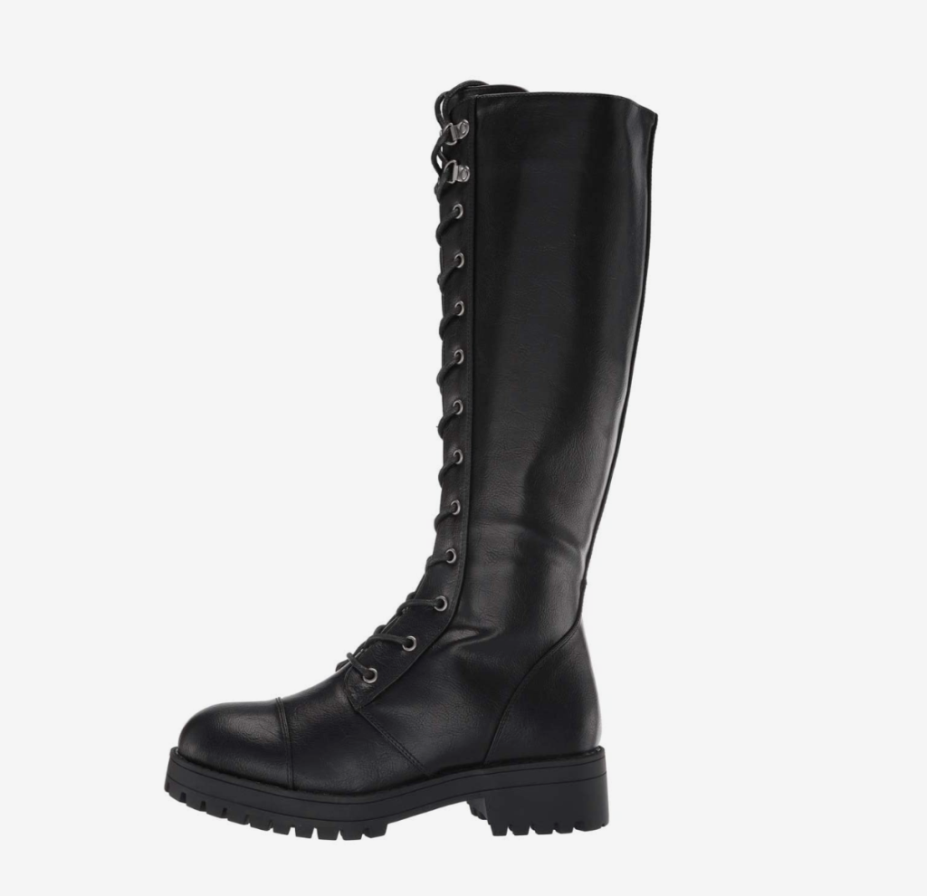 black boots, combat boots, knee high, dirty laundry
