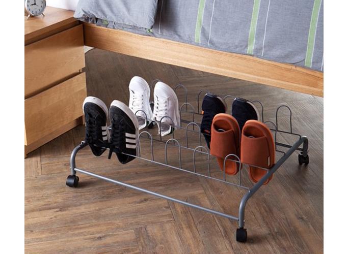 DormCo Suprima Underbed Shoe Holder with Wheels, best underbed shoe storage