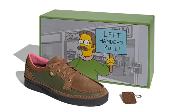 The Simpsons x Adidas McCarten, ned flanders, left handers rule, shoes
