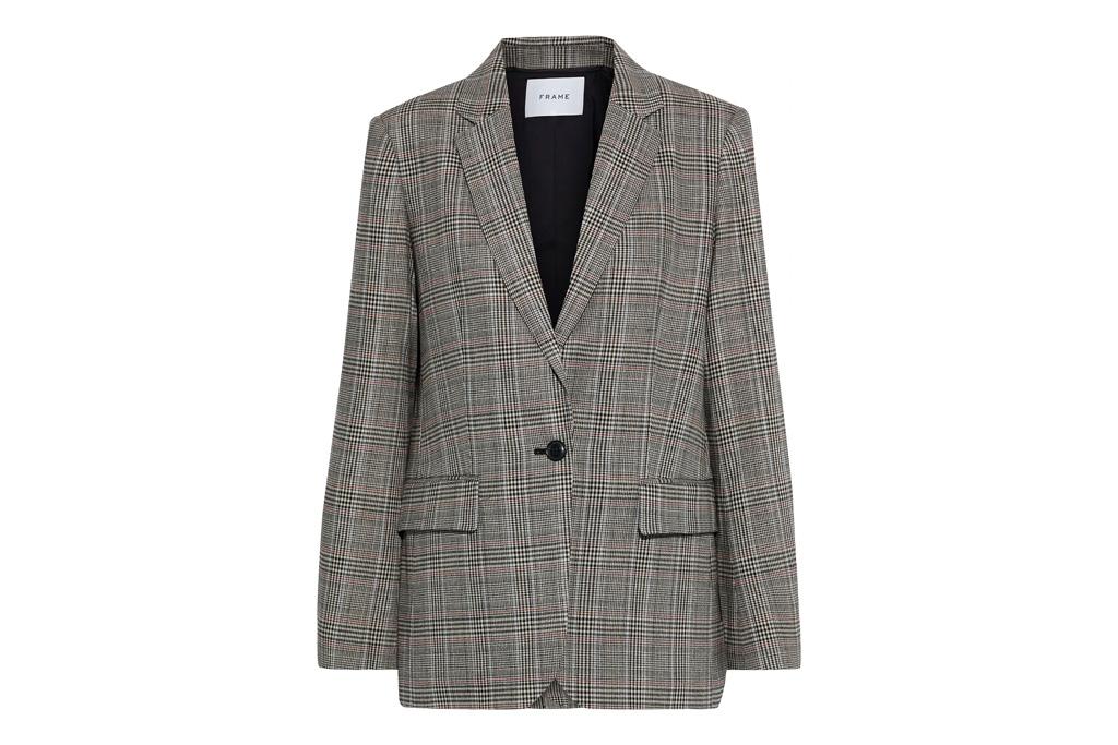 blazer, checkered, frame