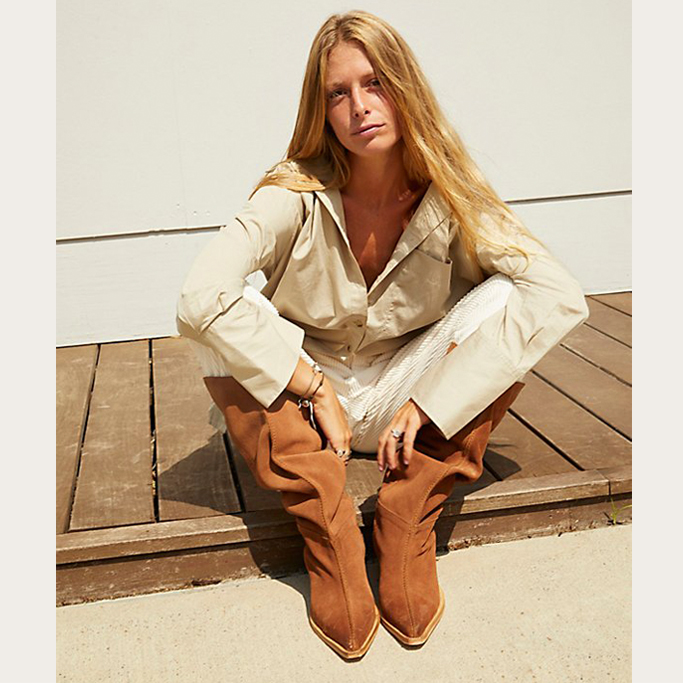 Free People Sway Low Slouch Boots, fall shoes 2021