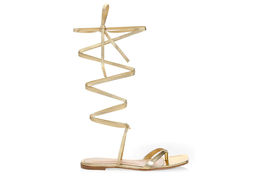 gold sandals, gladiator sandals, gianvito rossi