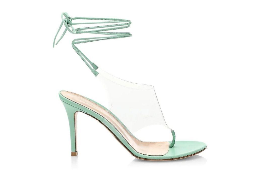 Gianvito Rossi sandals, strappy, pvc