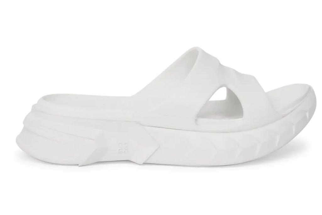 white slides, ugly sandals, givenchy
