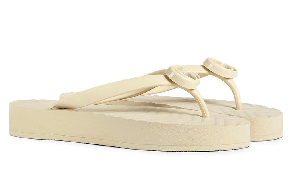 gucci, thong sandals, platform