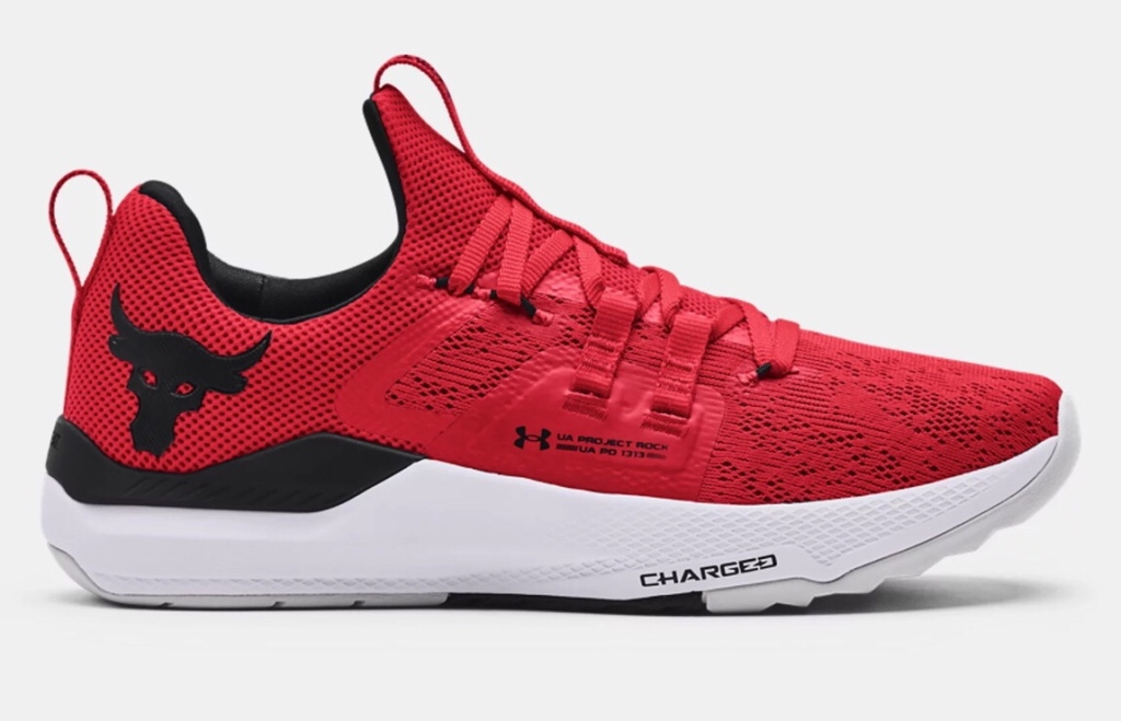 red shoes, sneakers, under armour