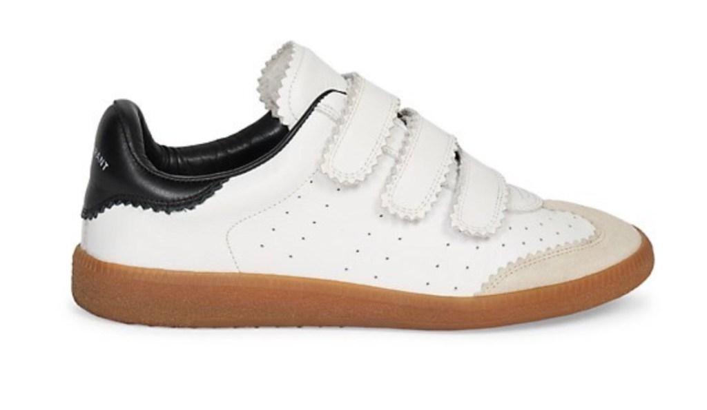 isabel marant Beth Grip-Tape white velcro sneakers
