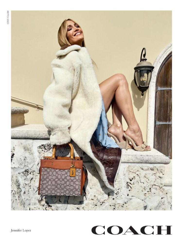 jennifer lopez, coach, coat, blue dress, purse, heels, sandals, fall, kate moss