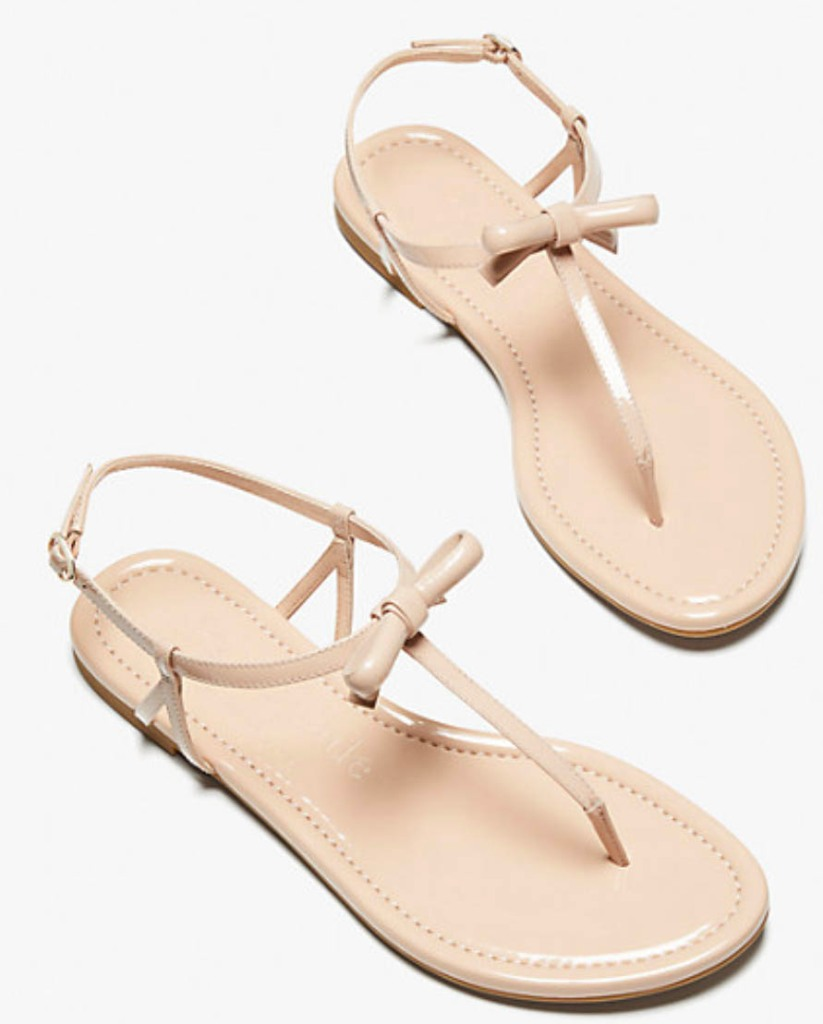 kate spade piazza sandals, knot, thong sandals