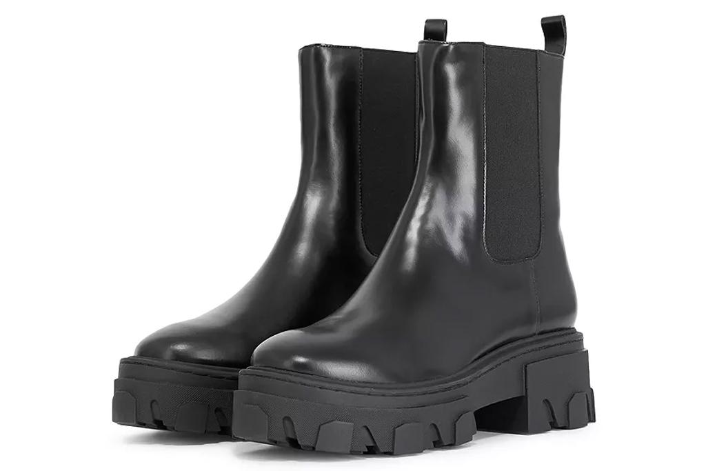 black boots, lug sole, kooples