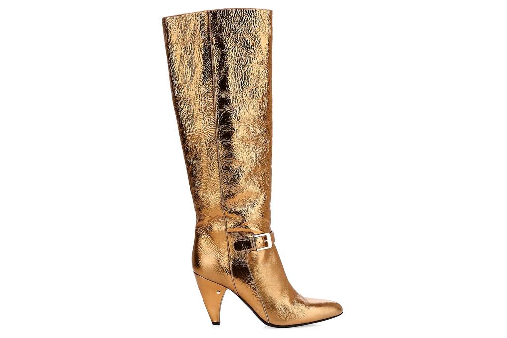 gold boots, laurenece dacadee