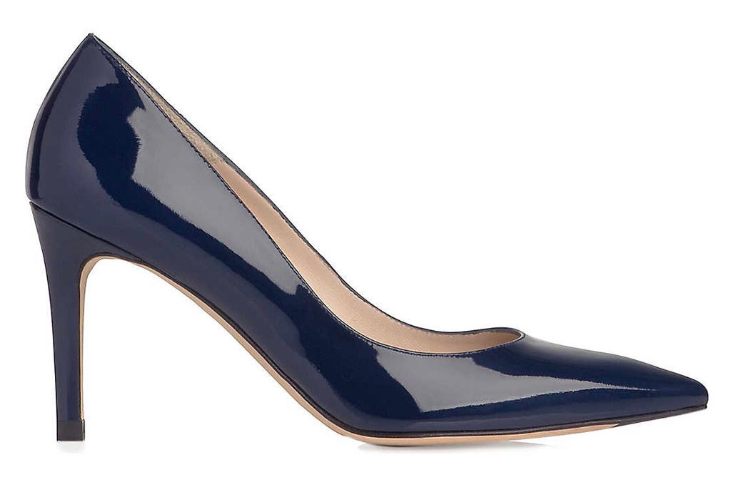 navy pumps, heels, patent, lk bennett