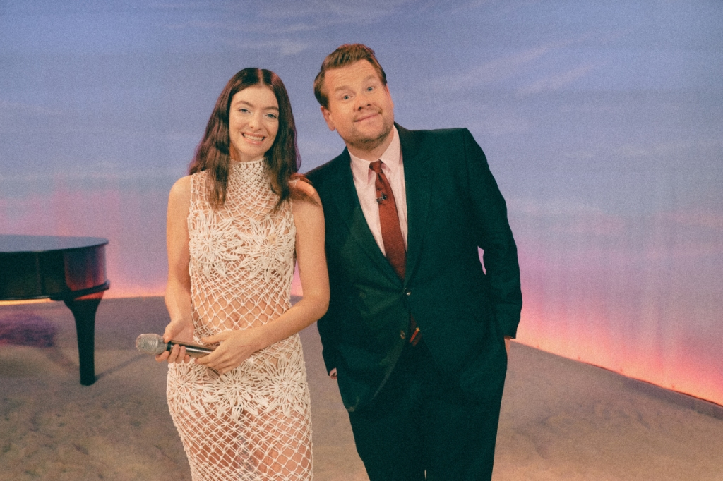 The Late Late Show with James Corden airing Wednesday, August 25, 2021, with guests Lorde and Bradley Whitford. Photo: Terence Patrick ©2021 CBS Broadcasting, Inc. All Rights Reserved