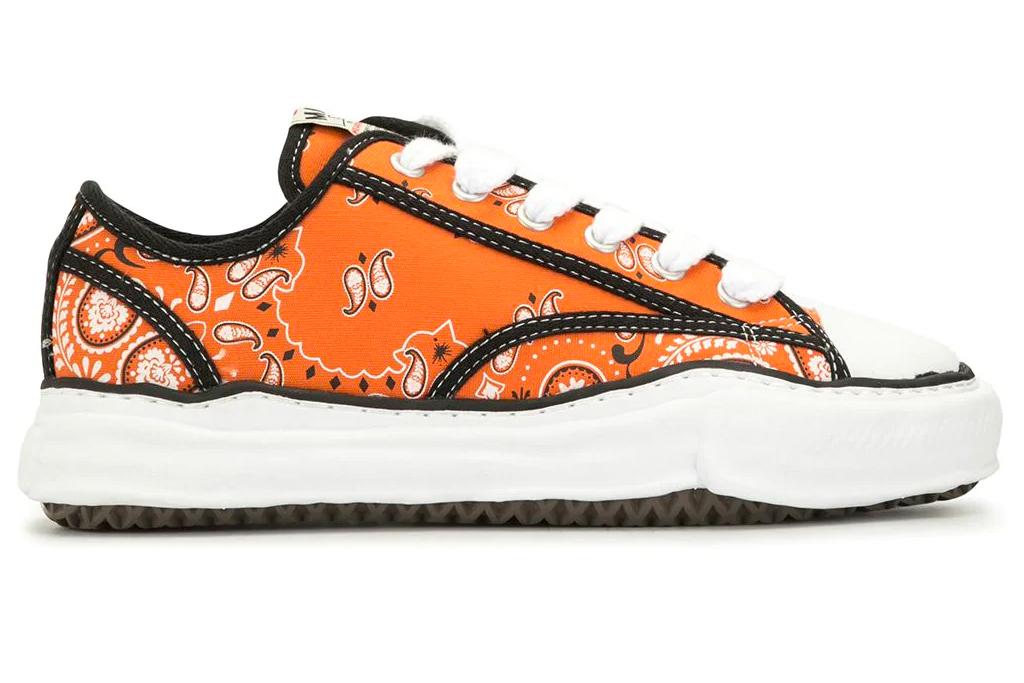 orange sneakers, maison