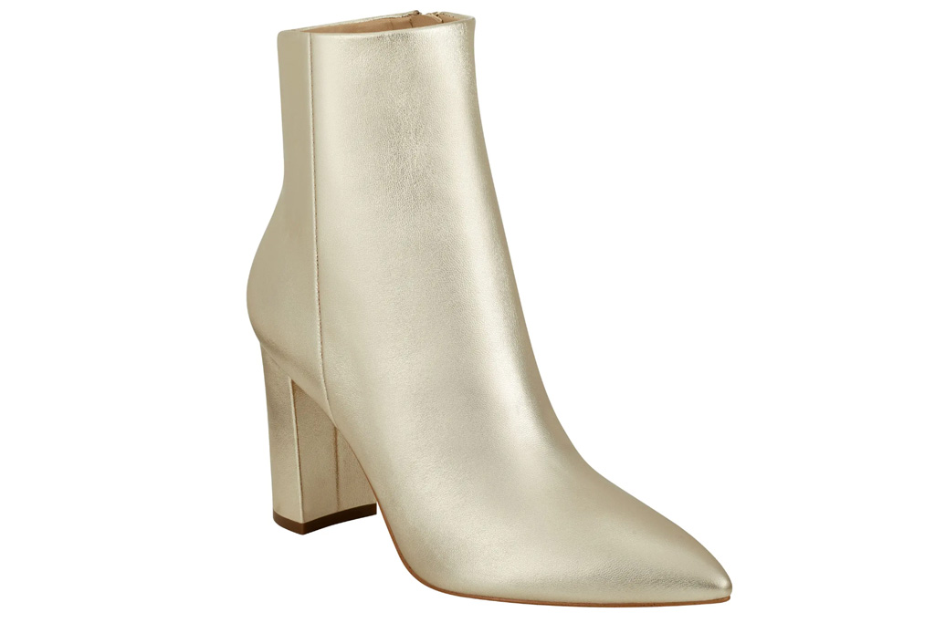 gold boots, marc fisher