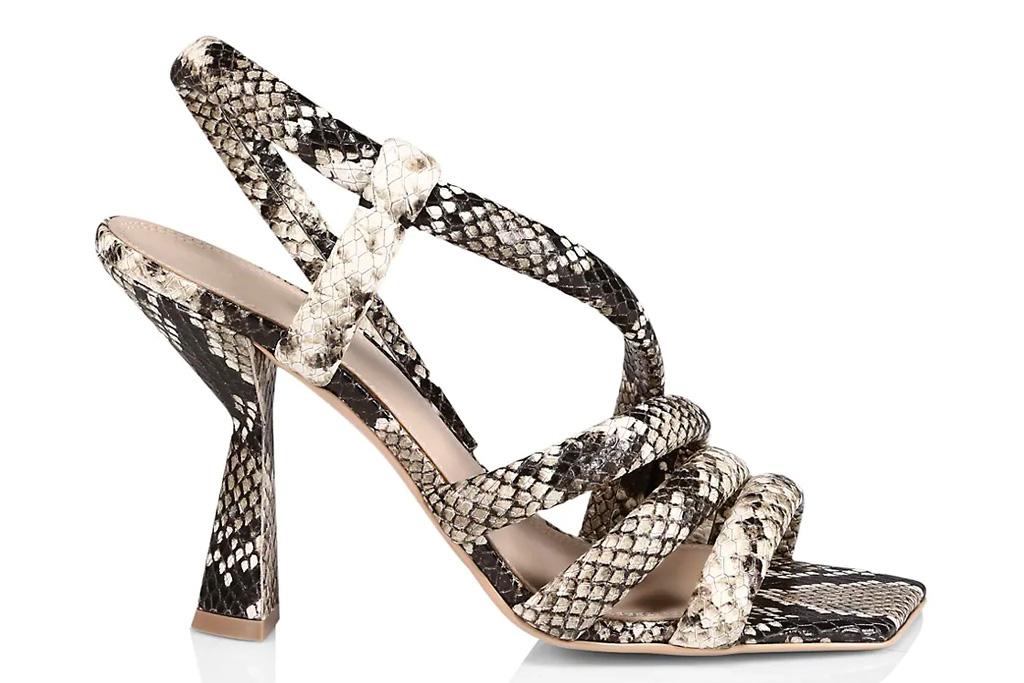snakeskin sandals, heels, mercedes castillo
