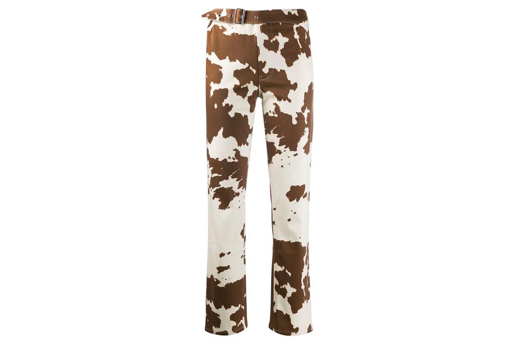 miaou, cow print pants