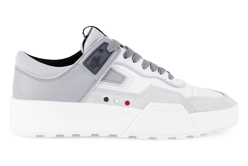 sneakers, gray, white, mens, moncler
