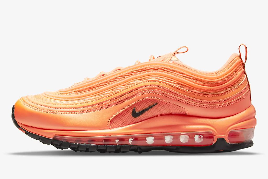 orange sneakers, nike