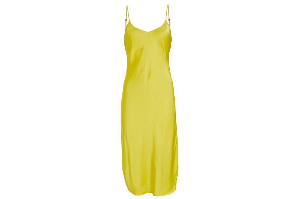yellow dress, silky, nili lotan