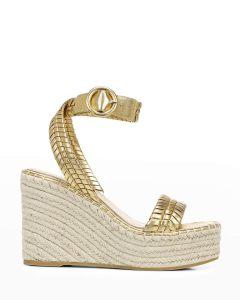 Veroonica Brand RIlla Metallic Espadrille Sandals
