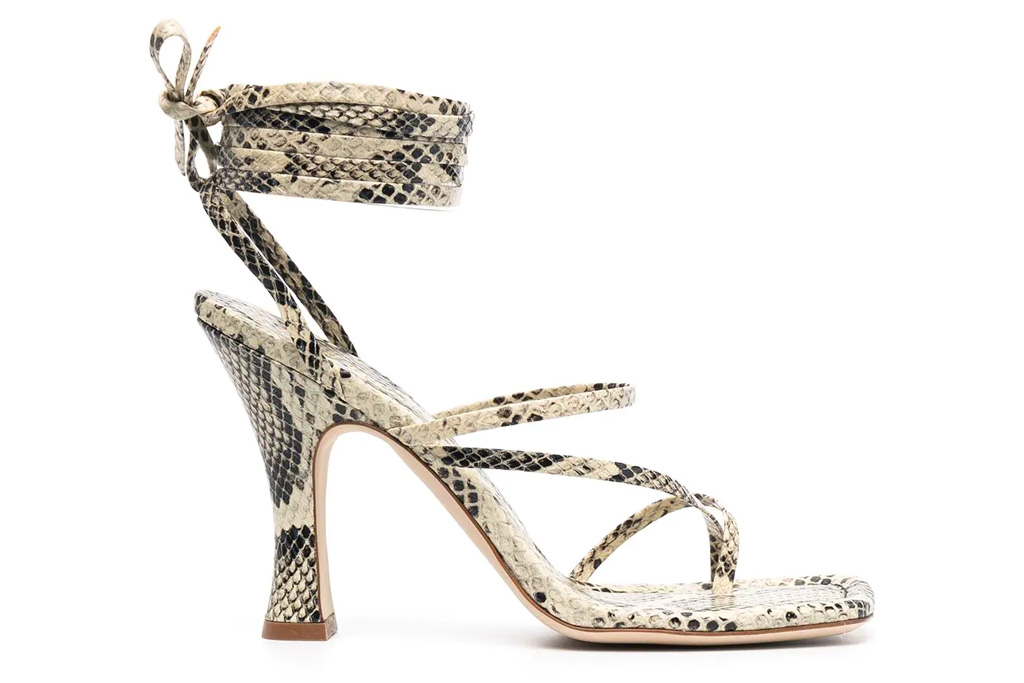 snakeskin sandals, heels, paris texas