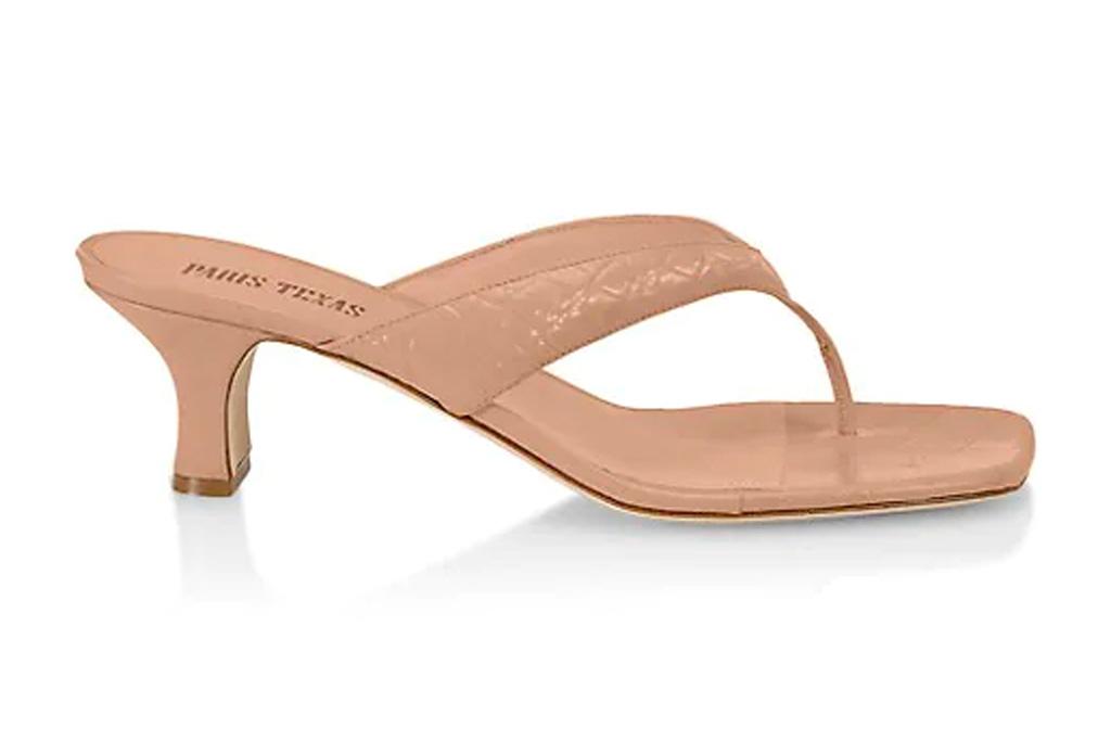 thong sandal, tan, heel, paris texas