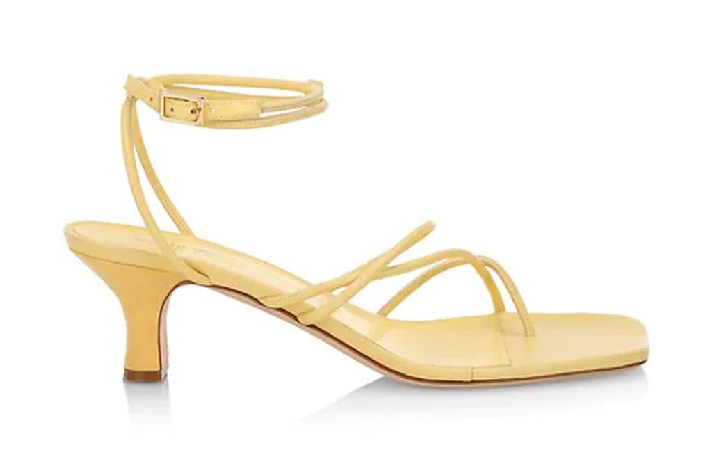 yellow heels, sandals, paris texas