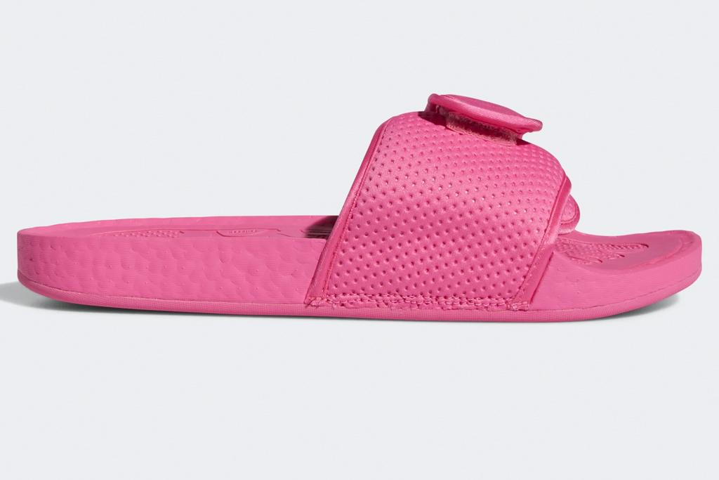 hot pink, sandals, slides, pharrell, adidas