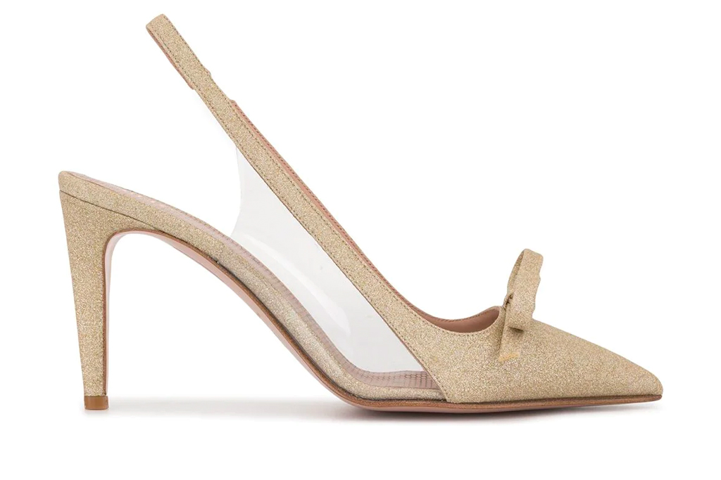 heels, pumps, bow, red v