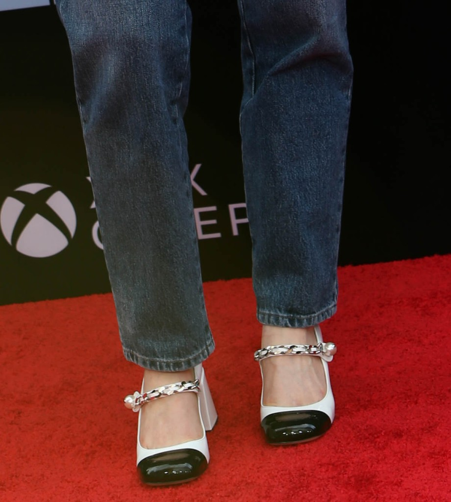 """shoes, Sadie Sink attends the premiere of """"Free Guy"""" at AMC Lincoln Square Theater in New York, NY on August 03, 2021."""