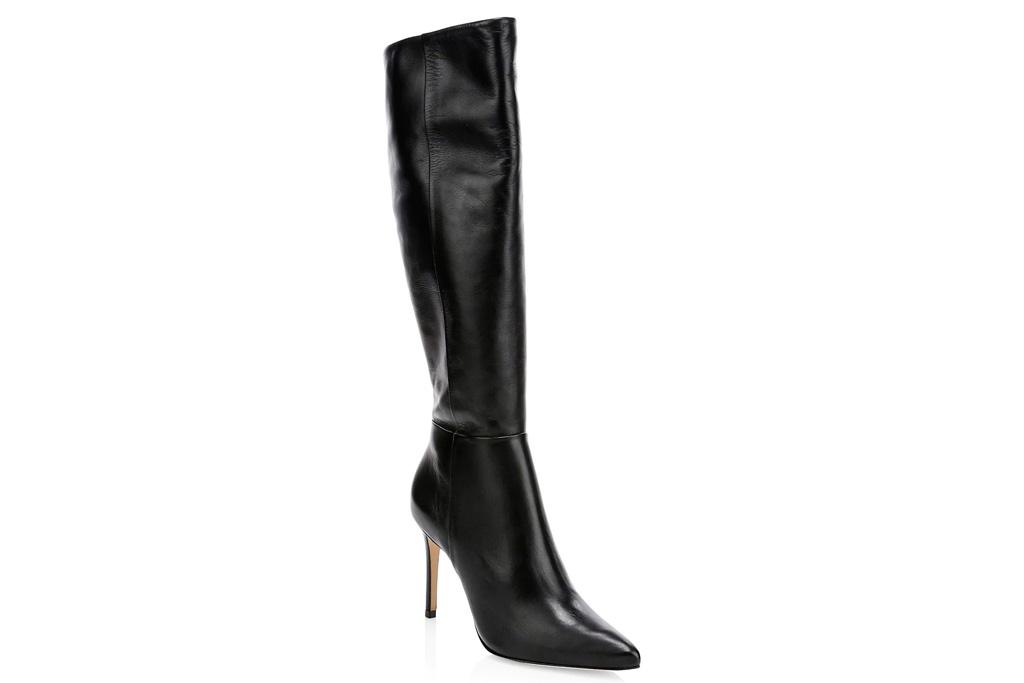 black boots, pointed toe, schutz