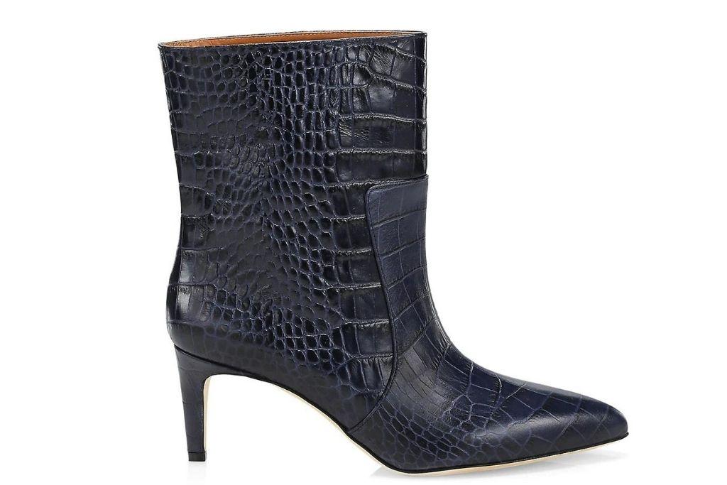 Schutz Croc-Embossed Boots