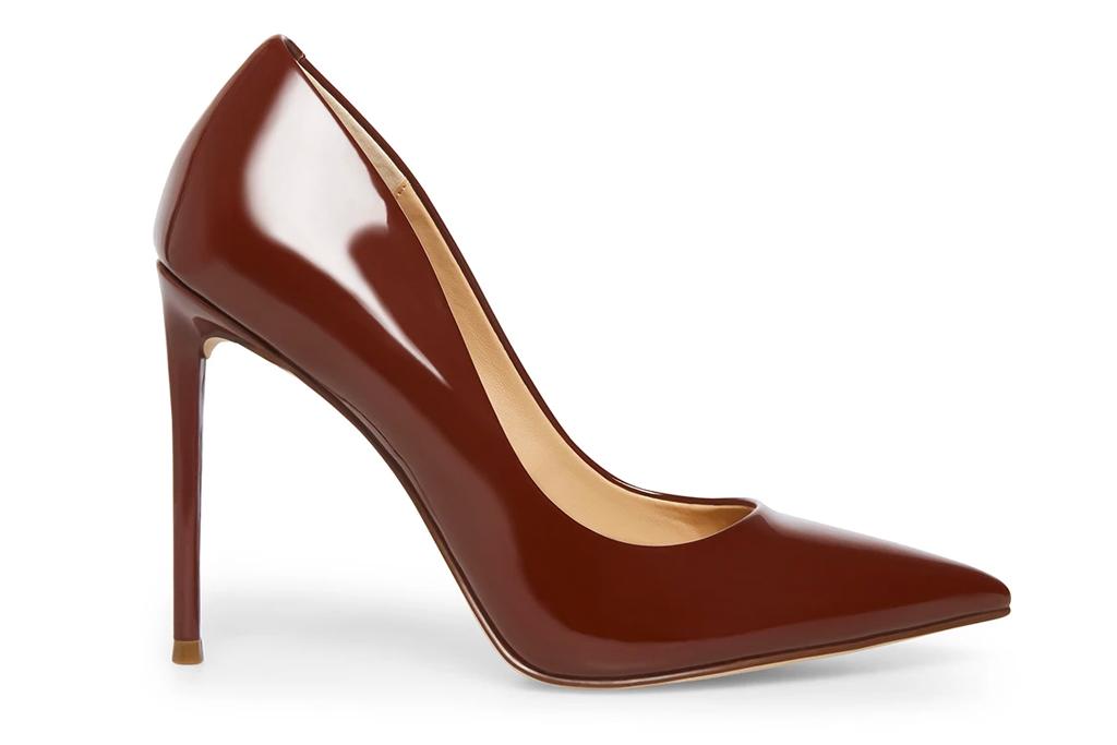 brown pumps, heels, steve madden