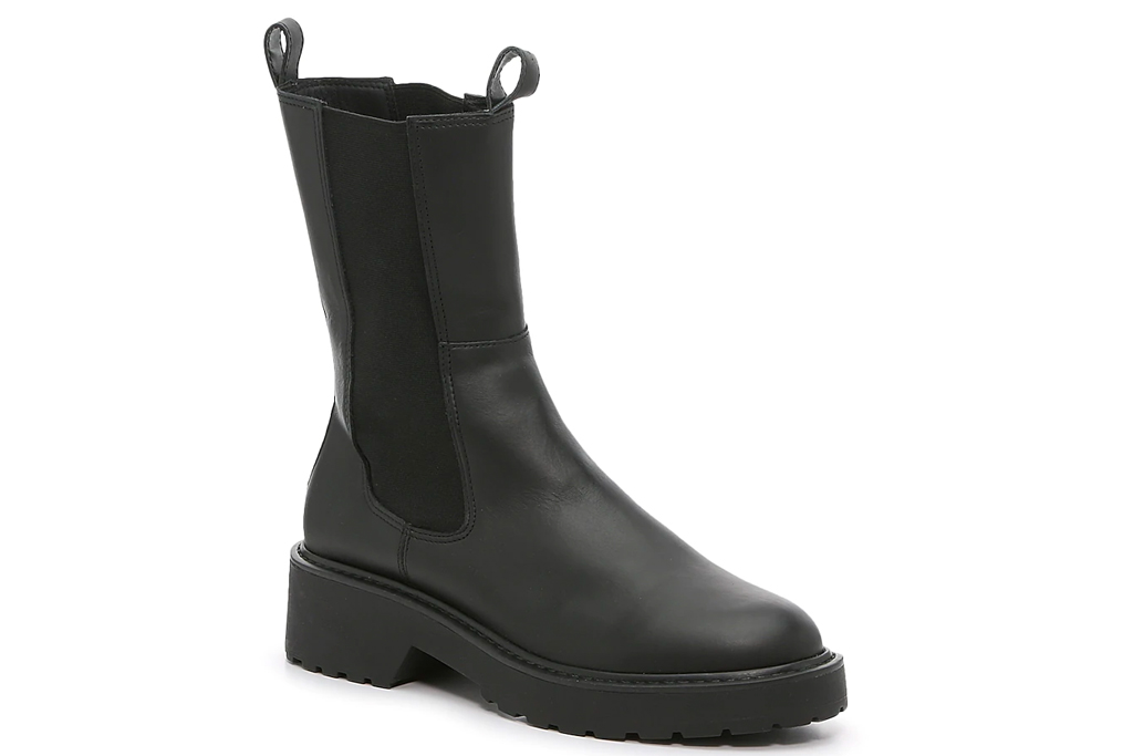 black boots, lug sole, steve madden