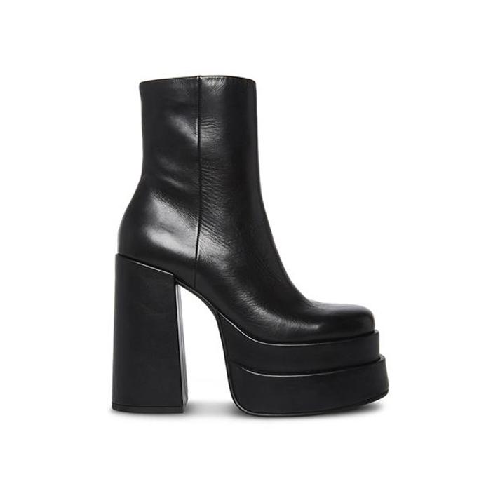 Steve Madden Cobra Black Leather, fall shoes 2021