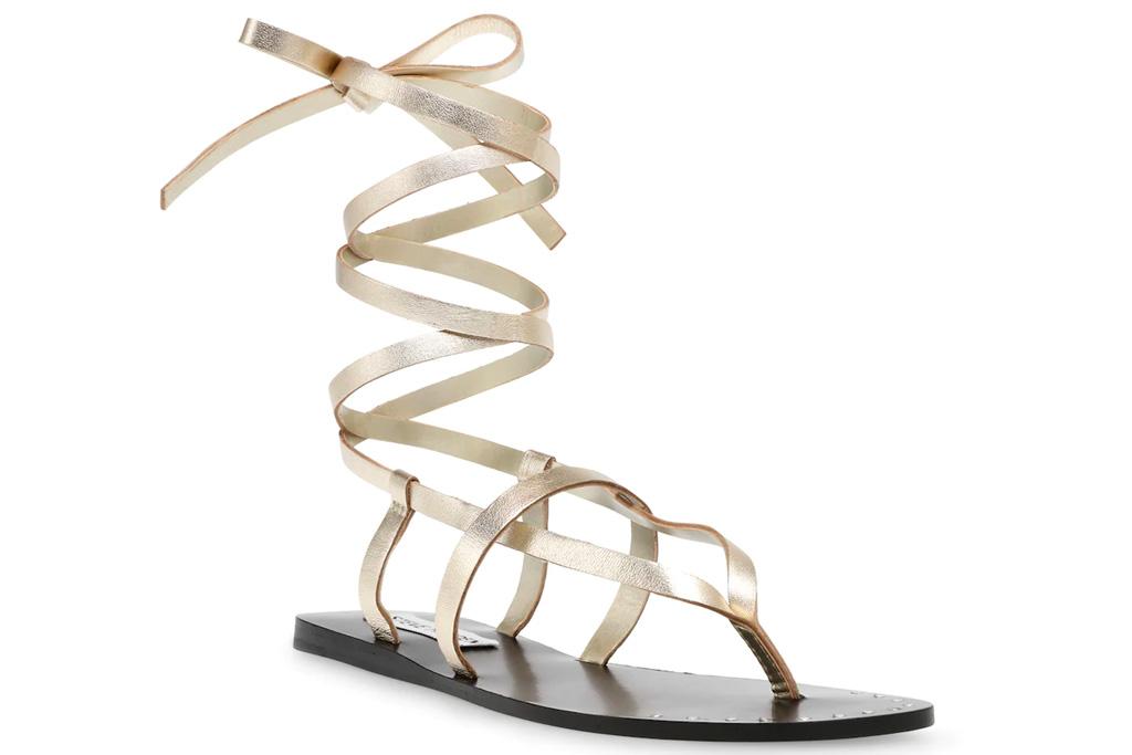 gold sandals, gladiator sandals, steve madden