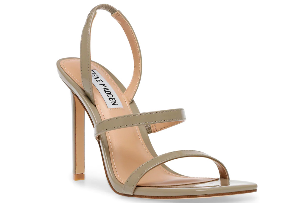 silver sandals, gray sandals, steve madden