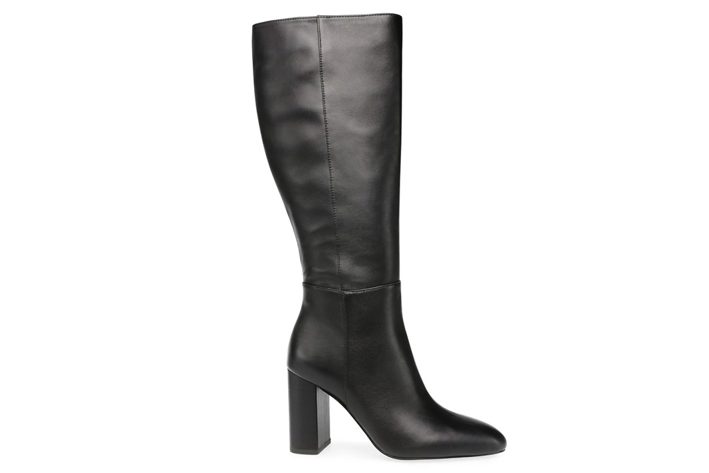 black boots, pointed toe, steve madden