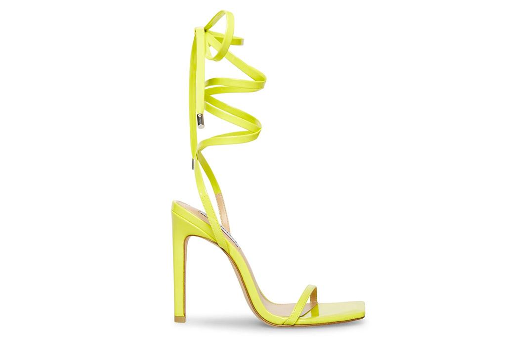 yellow heels, sandals, steve madden