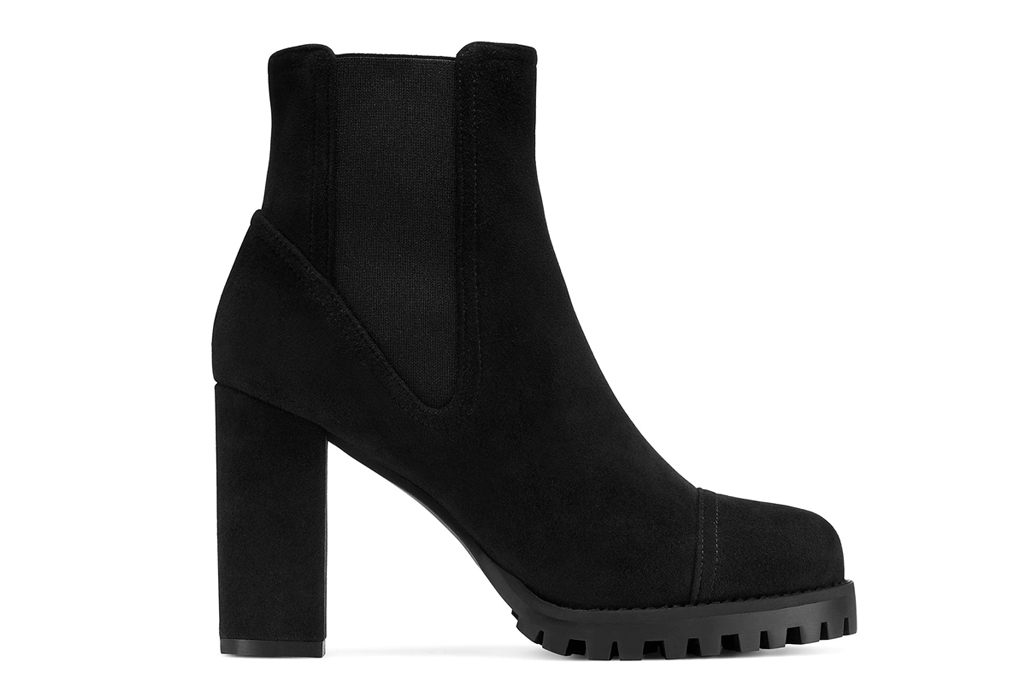 stuart weitzman, boots, booties, wenda, black