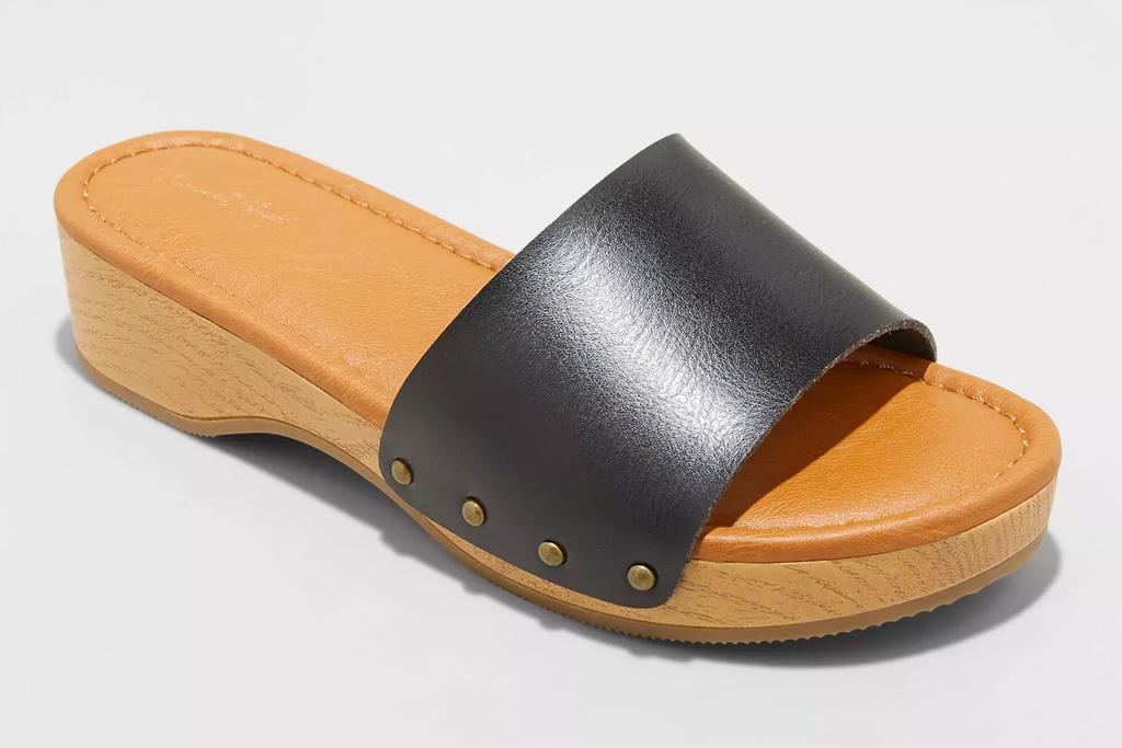 wooden clogs, sandals, target
