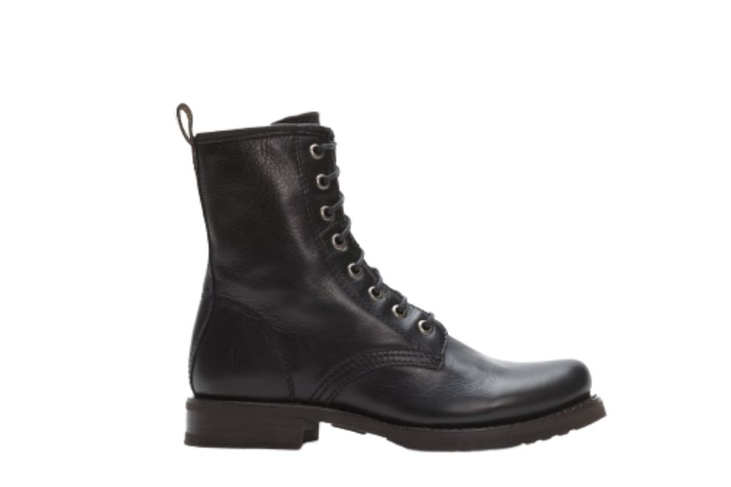 FRYE black combat boots