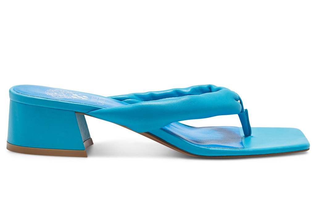 thong sandals, blue, heels, vince camuto