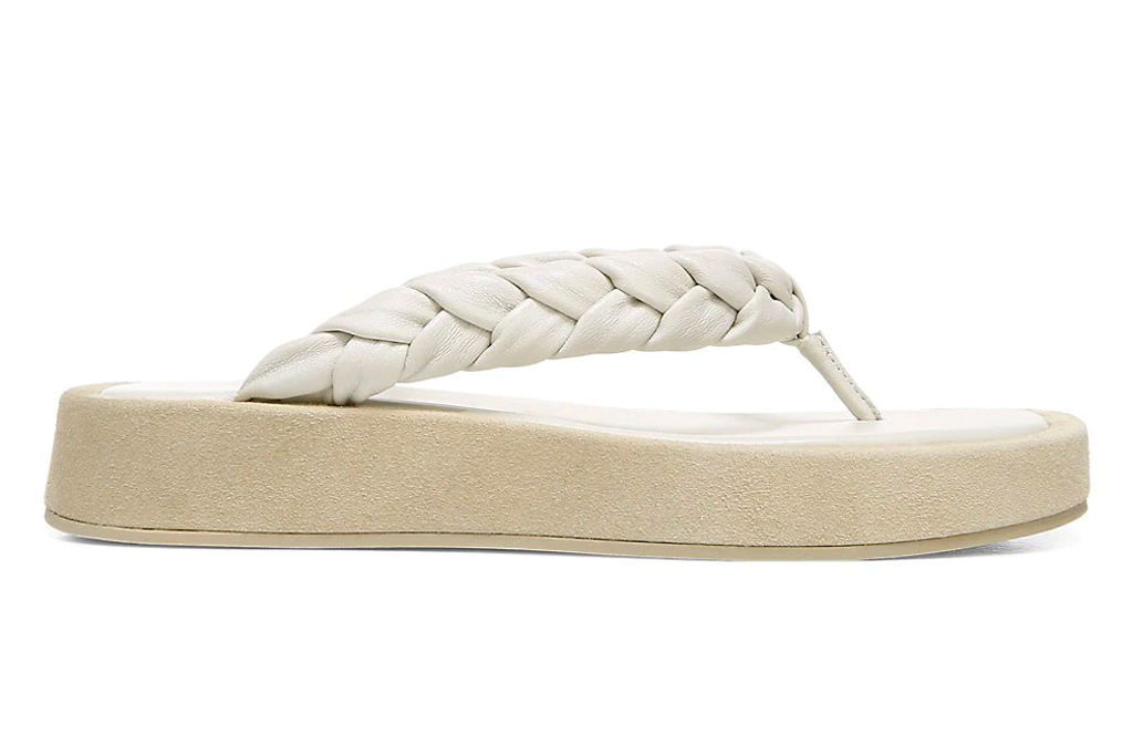 thong sandals, platform, vince