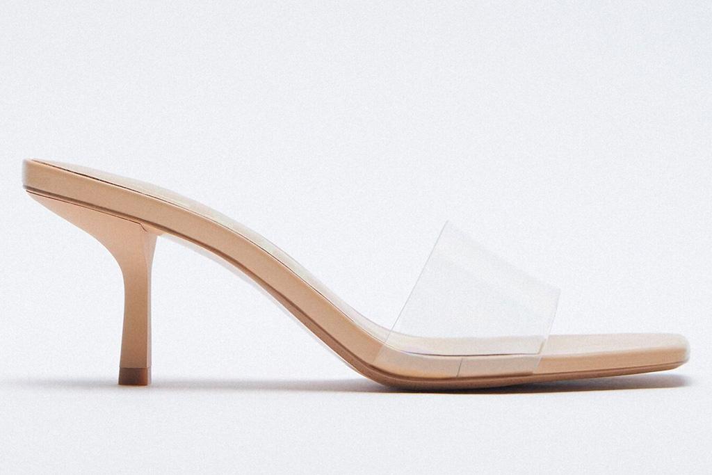pvc heels, clear mules, zara