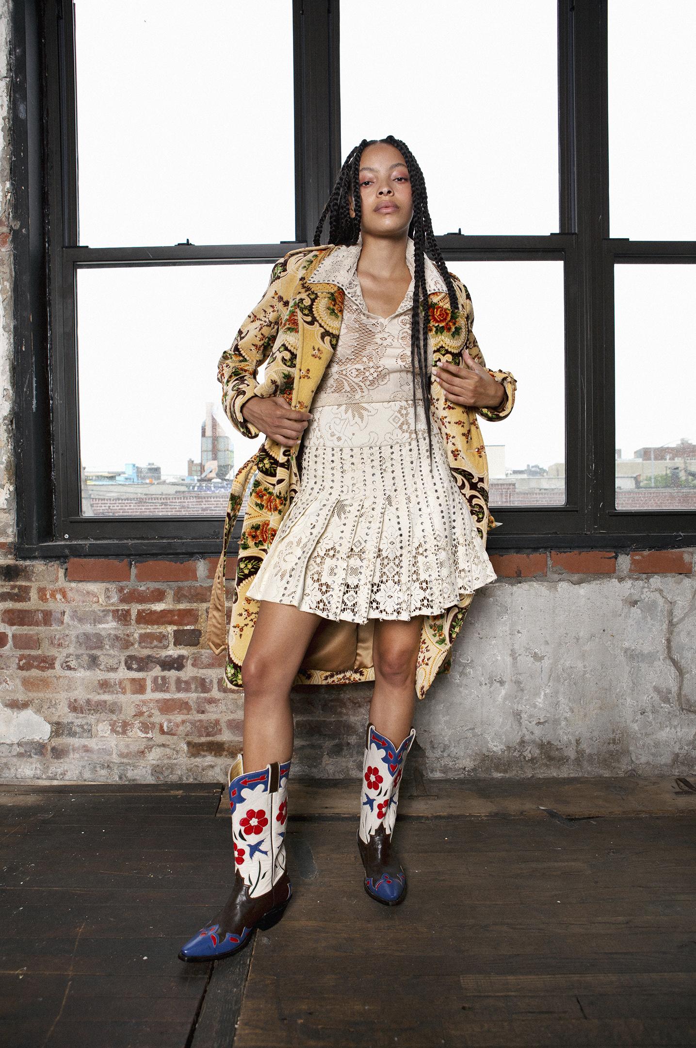 Mia Vesper, nyfw, cowboy boots
