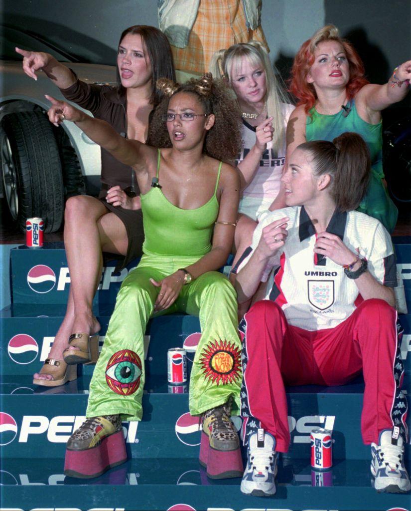 spice girls, y2k fashion, spice girls fashion, spice girls platforms
